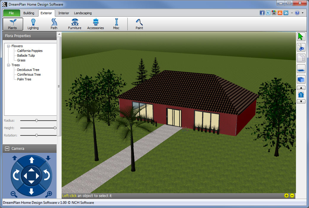 Dreamplan home design software download for Garden design application