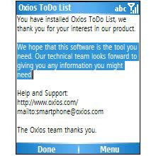 Oxios ToDo List