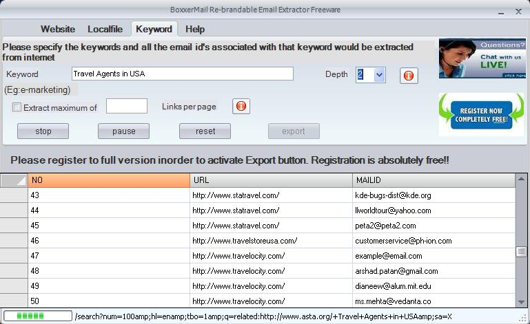 Boxxer Emails-Phone-Fax Extractor Free