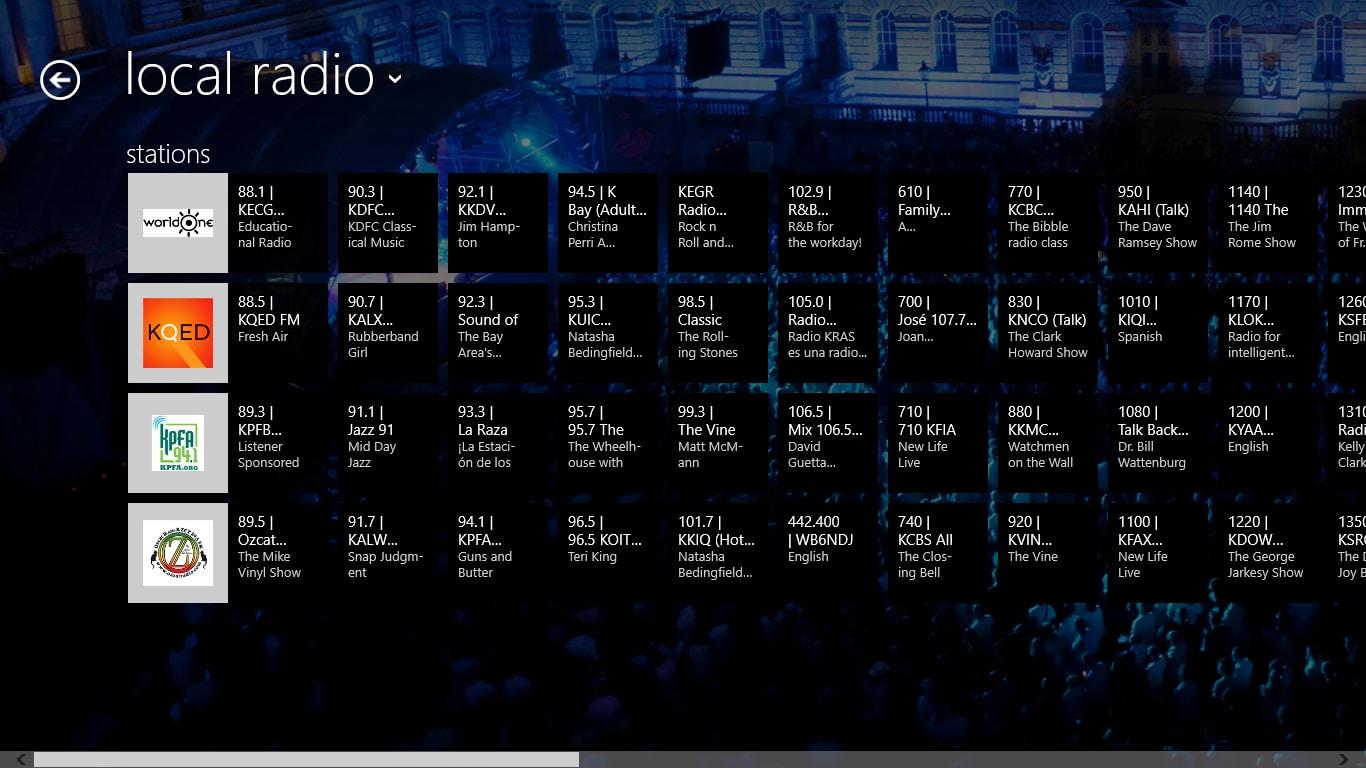 tunein radio windows