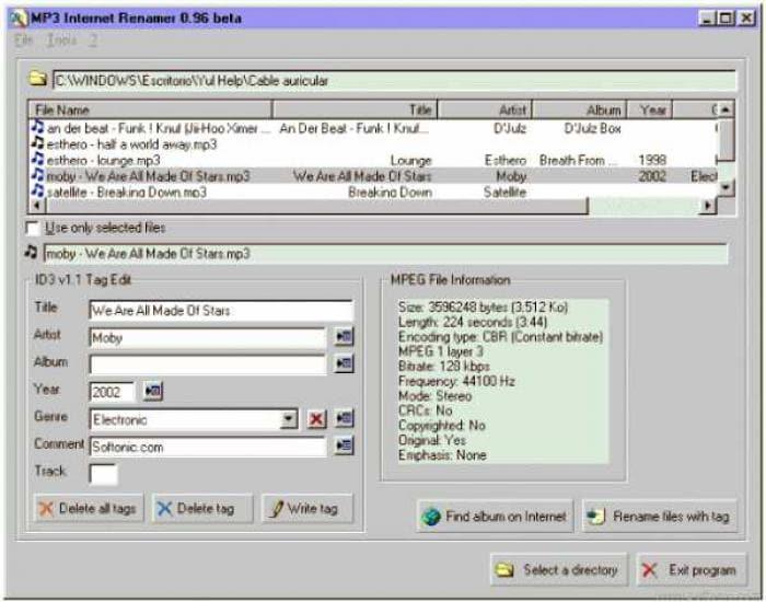 MP3 Internet Renamer