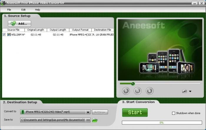 Aneesoft Free iPhone Video Converter