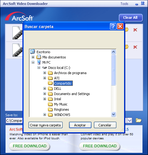 ArcSoft Video Downloader