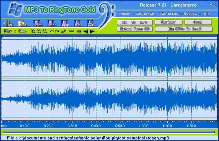 MP3 To Ringtone Gold 7.27