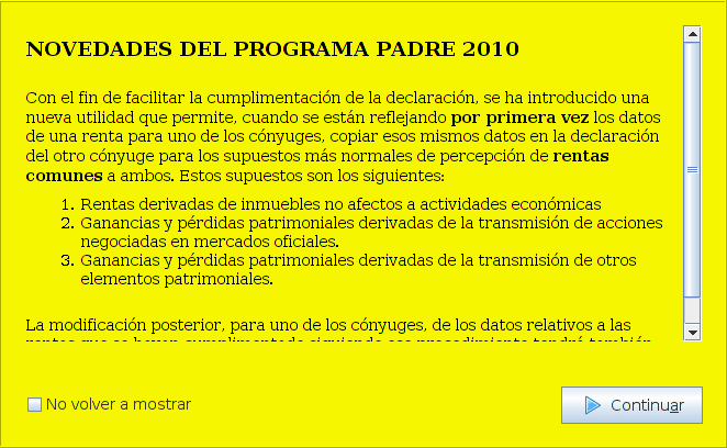 Renta 2010 (Modelo PADRE) 1.01