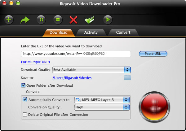 Bigasoft Video Downloader Pro for Mac