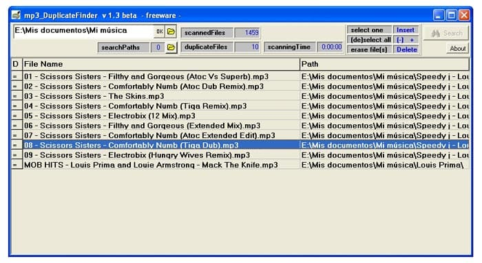mp3 DuplicateFinder