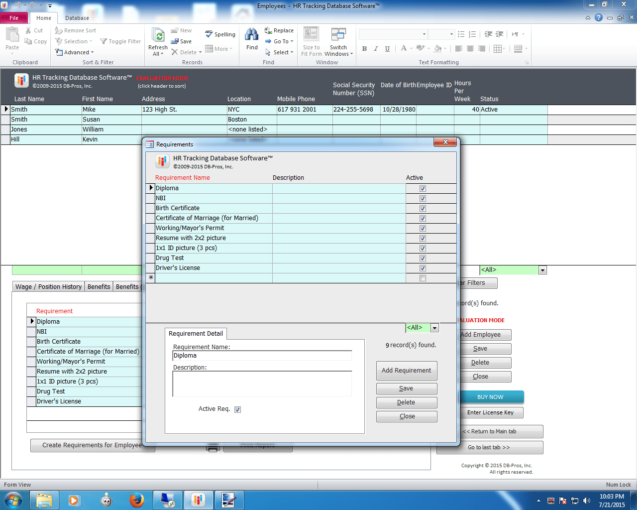 Hr Access Database Software Download