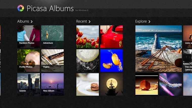 Picasa Albums für Windows 10