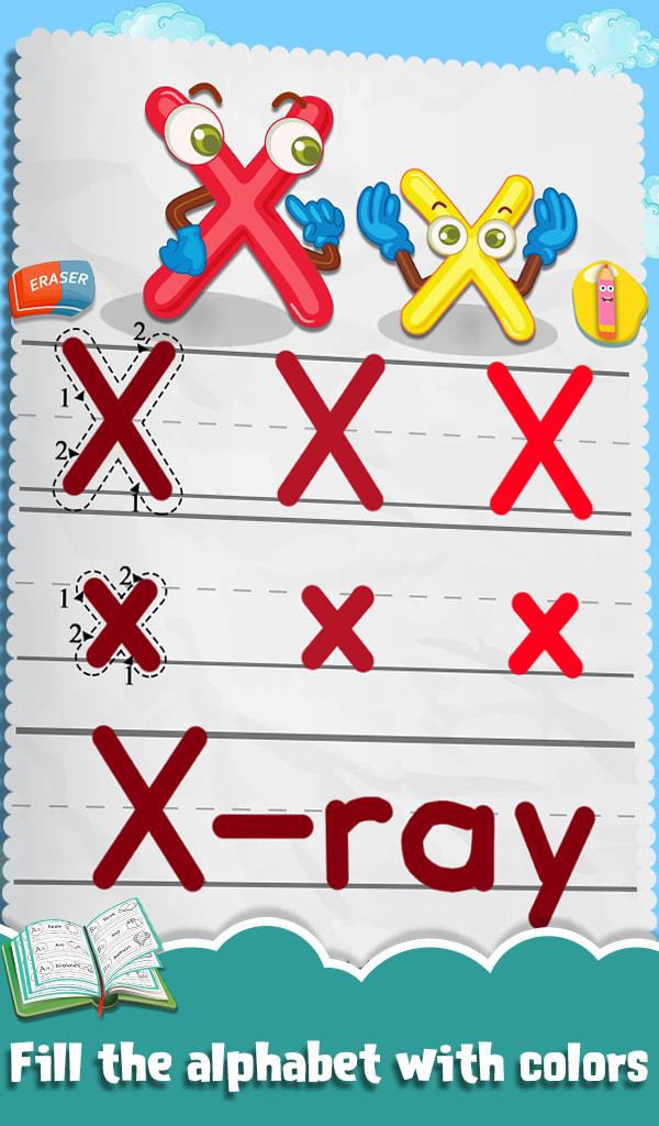 Kids Letters Tracing Worksheet