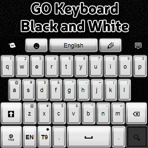 GO Keyboard Black and White
