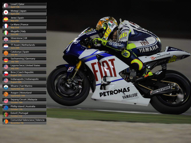 MotoGP 2010 Calendar Wallpaper