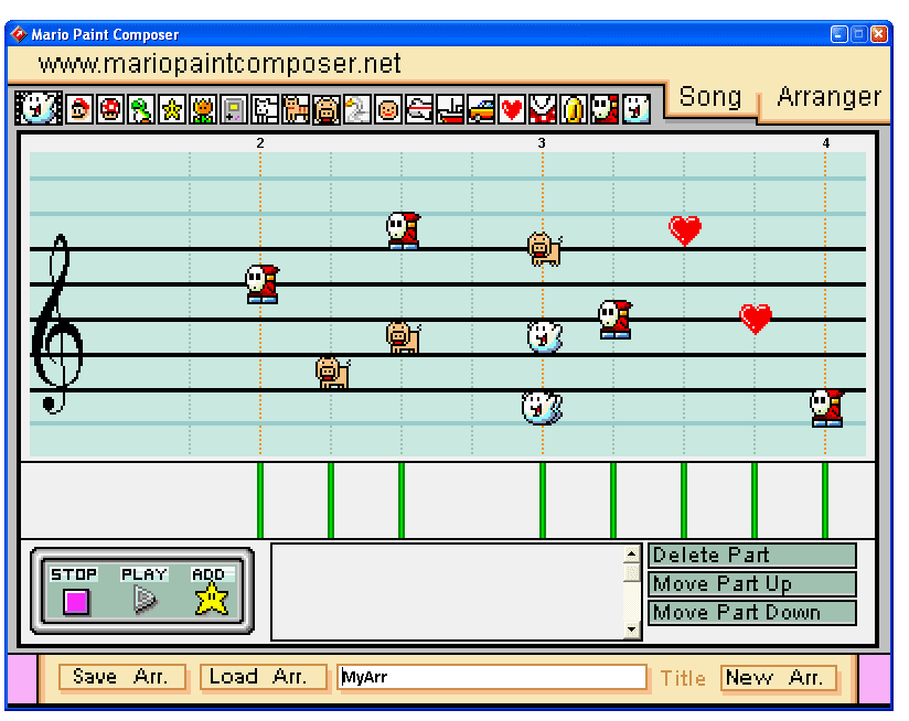 Play mario paint. Toto s africa on mario paint composer q107.