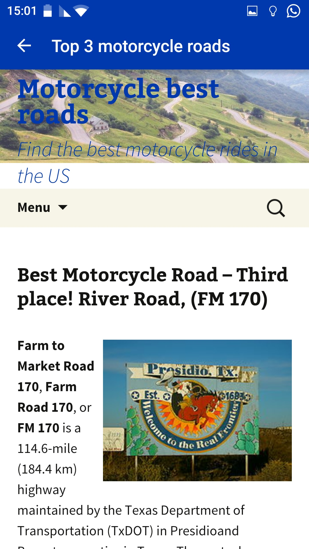 Motorcycle best bikers roads