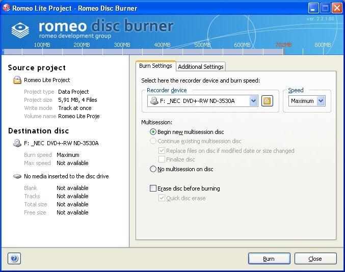 Romeo Burner Lite