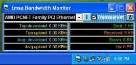 Emsa Bandwidth Monitor