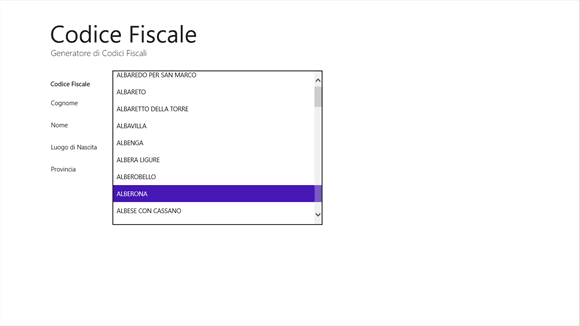 Codice fiscale app download for Luogo di nascita da codice fiscale