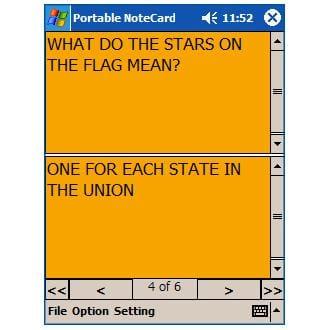 Portable NoteCard
