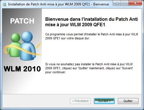 Parche anti-actualización para Messenger 2009