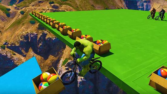 Superhero Bmx Stunt Racing