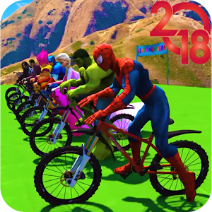 Superhero Bmx Stunt Racing