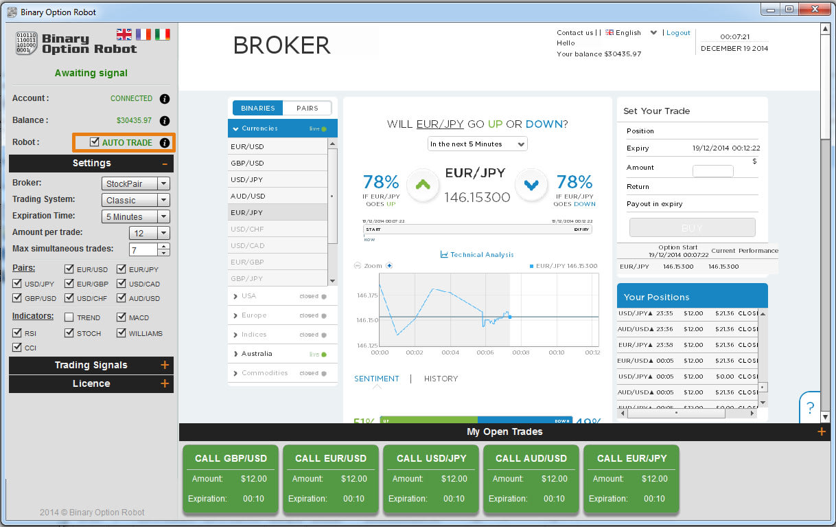 Binary option robot trading software
