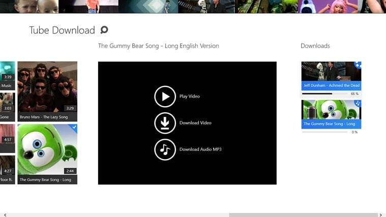 Tube Download for Windows 10