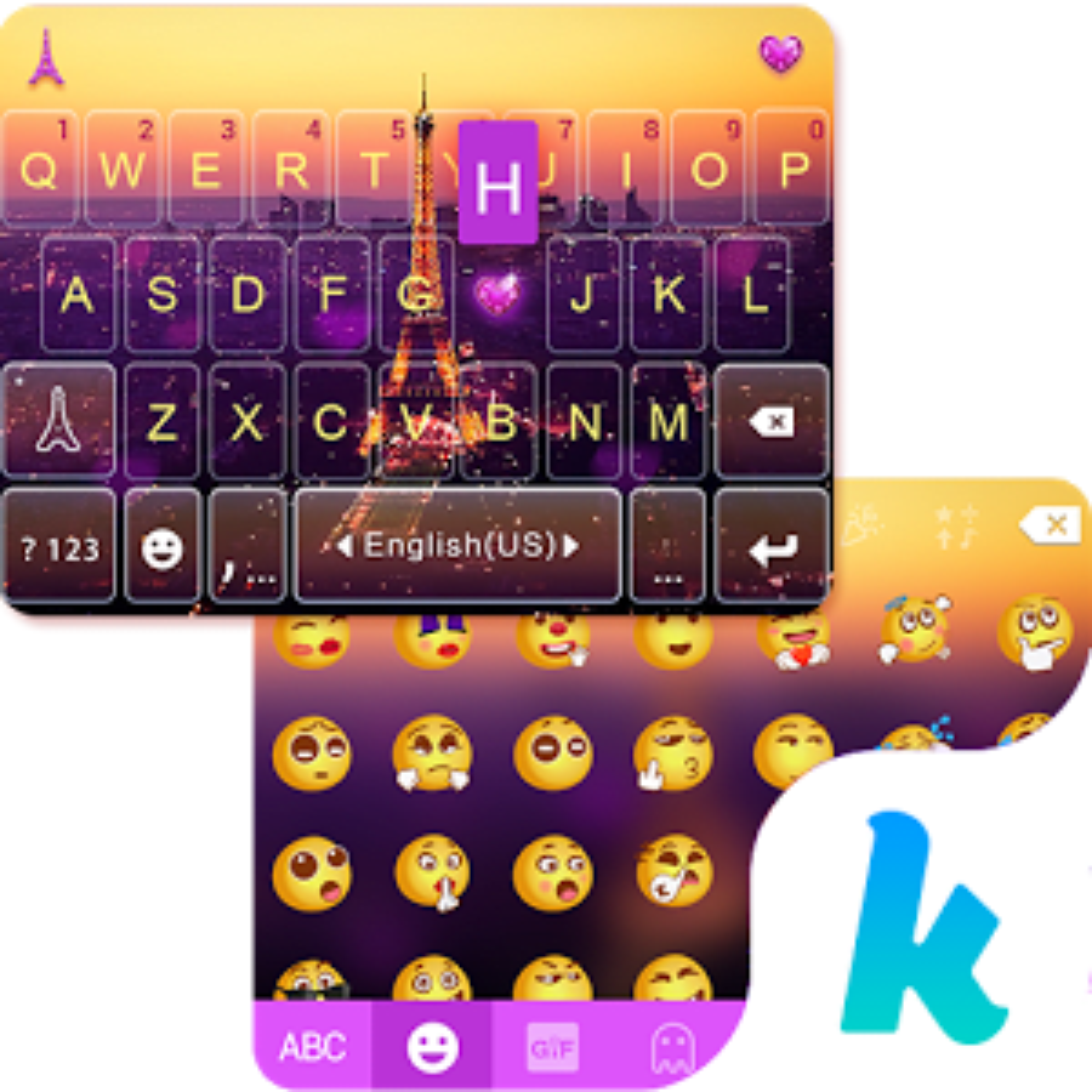 Romantic Pairs Kika Keyboard 25.0