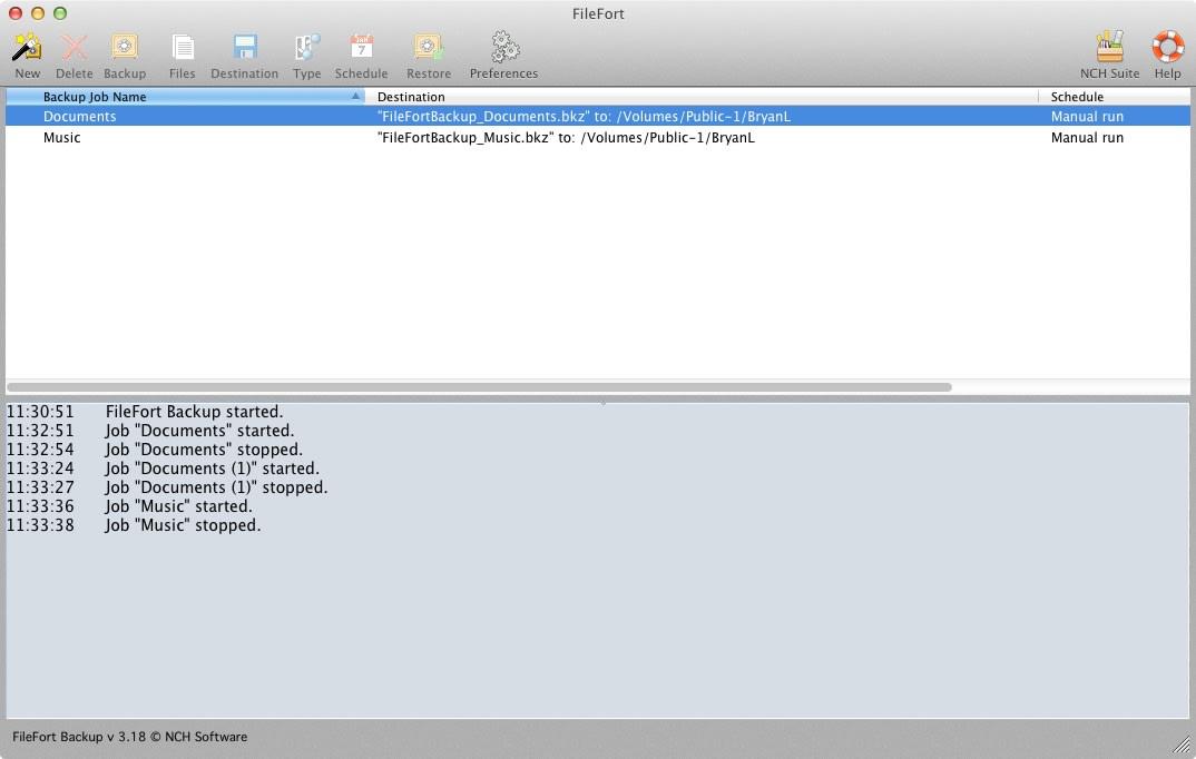 FileFort Free Mac Backup Software