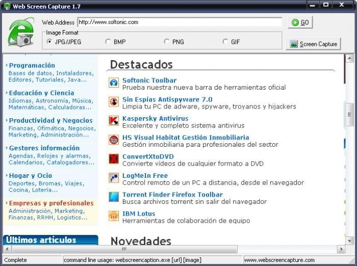 Web Screen Capture
