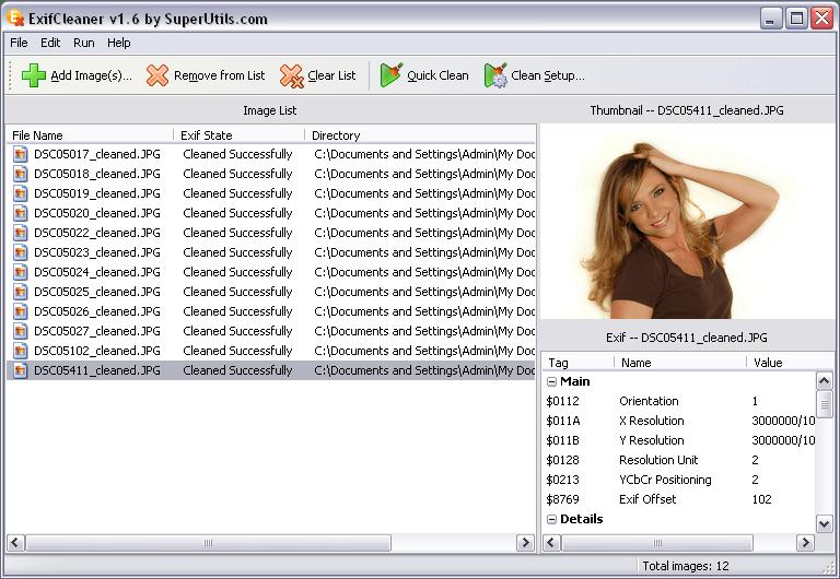 ExifCleaner 1.6