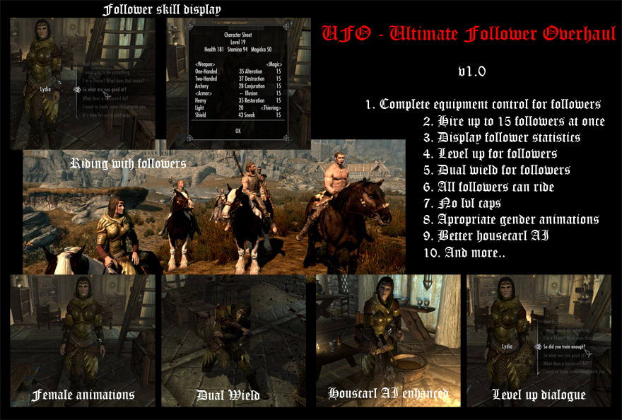 Skyrim UFO Ultimate Follower Overhual