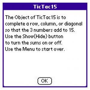 Tic Tac 15