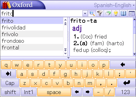 Pocket Oxford Spanish Dictionary and MSDict Viewer