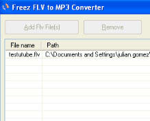 Freez FLV to MP3 Converter 1.5