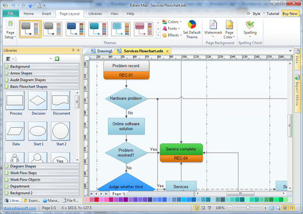 Edraw flowchart download Easy flowchart software