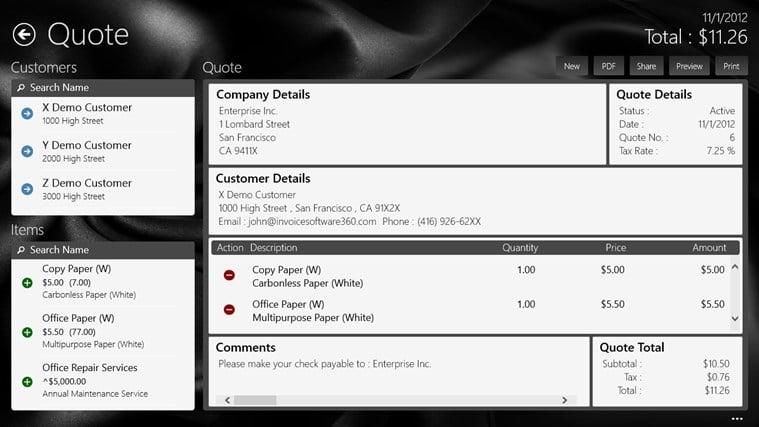 Invoice360 for Windows 10