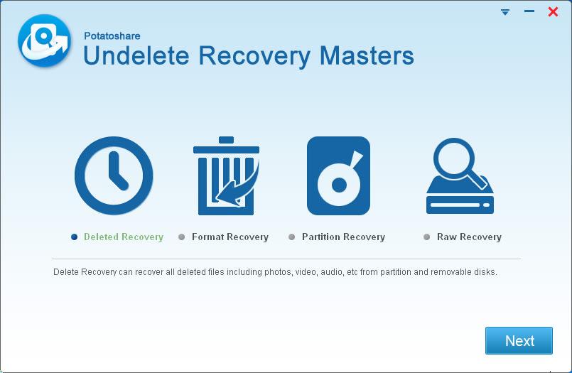Potatoshare Undelete Recovery Masters