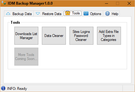 IDM Backup Manager