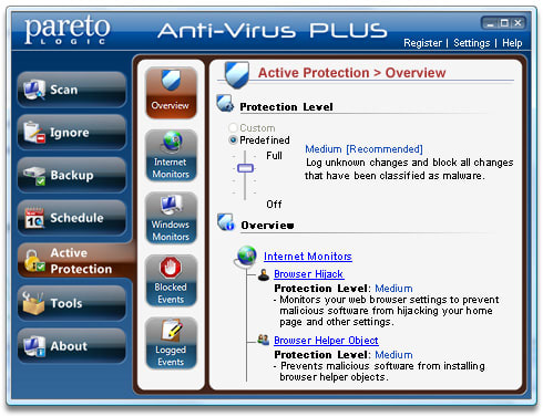 ParetoLogic Anti-Virus PLUS