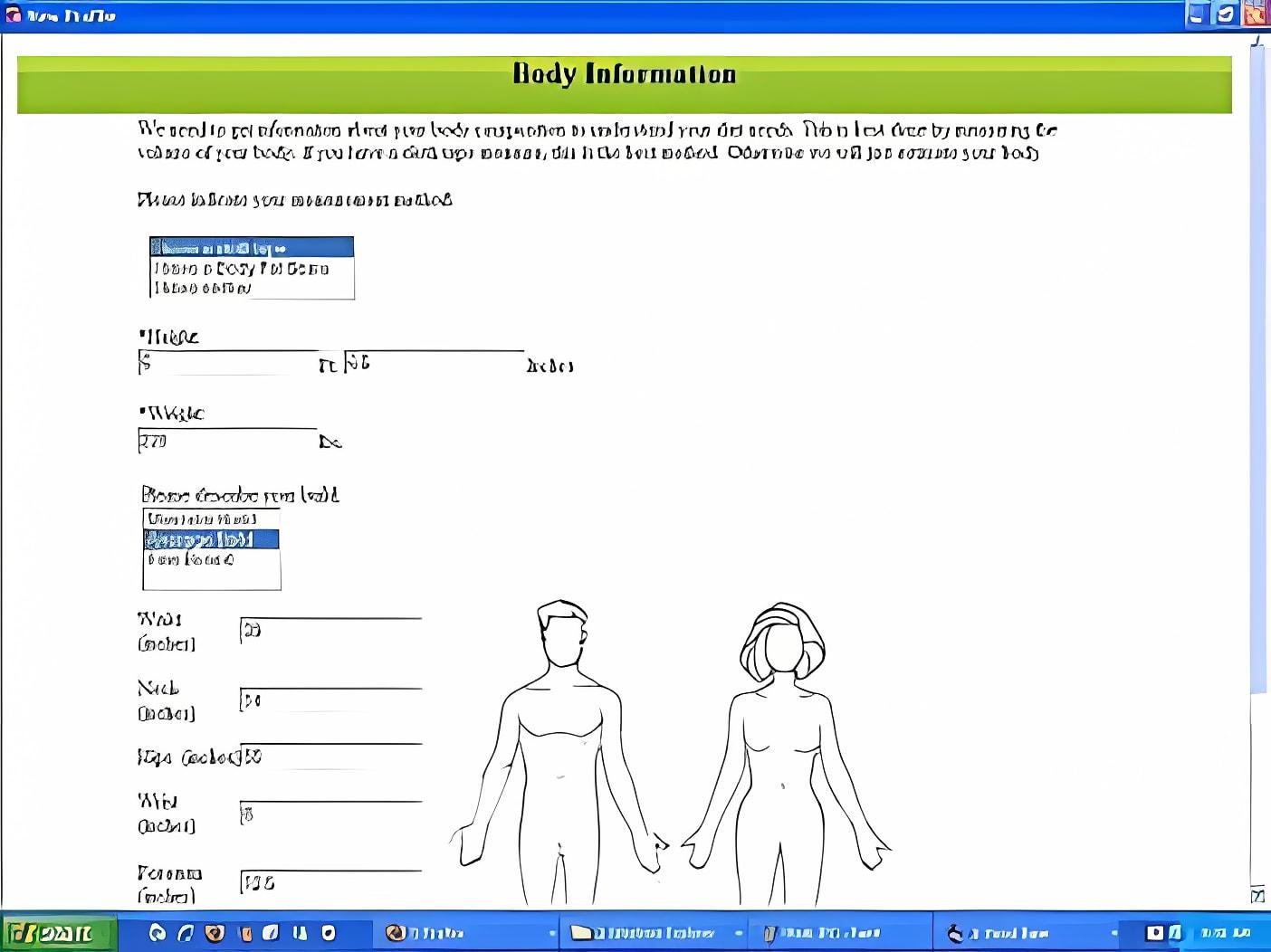 Calorie Balance Tracker