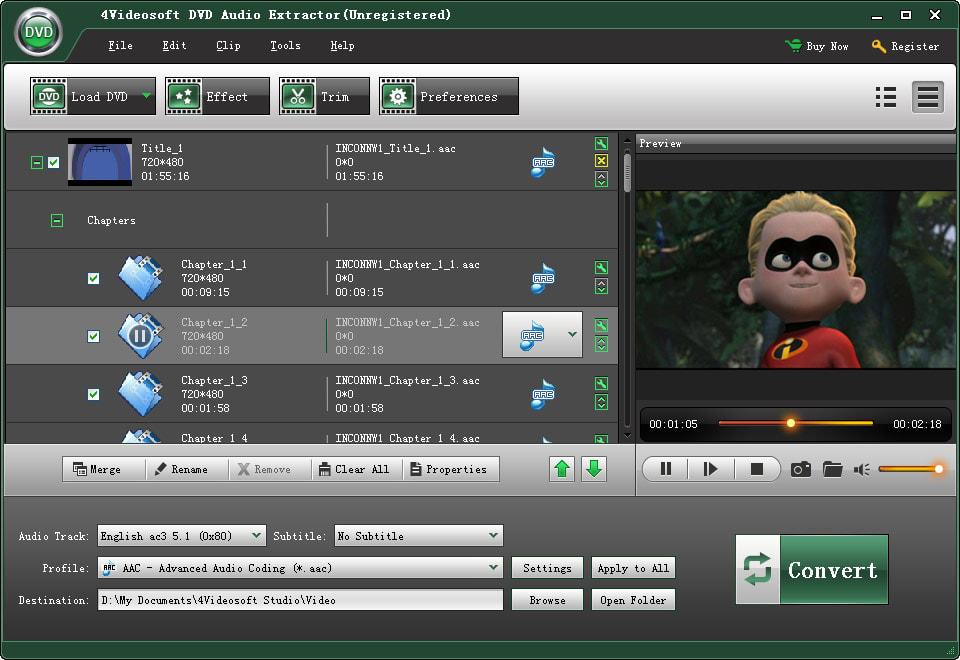 4Videosoft DVD Audio Extractor