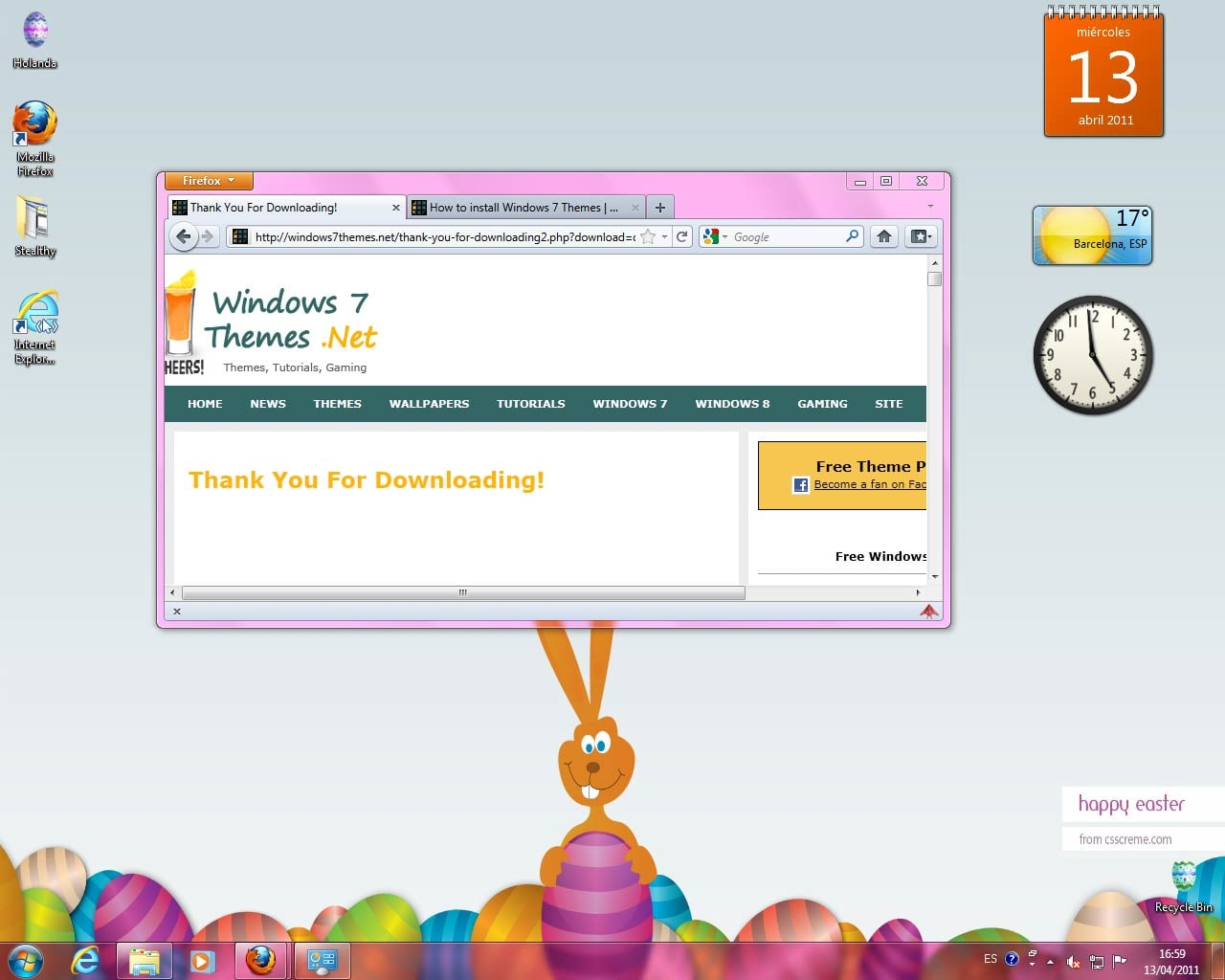 Windows 7 Easter Theme