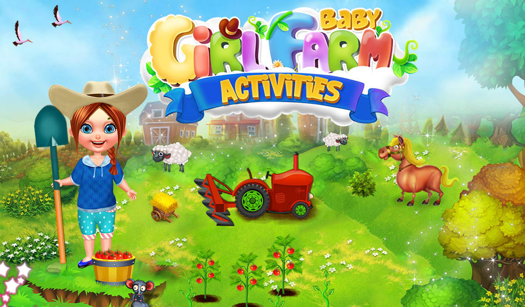Baby Girl Farm Activities