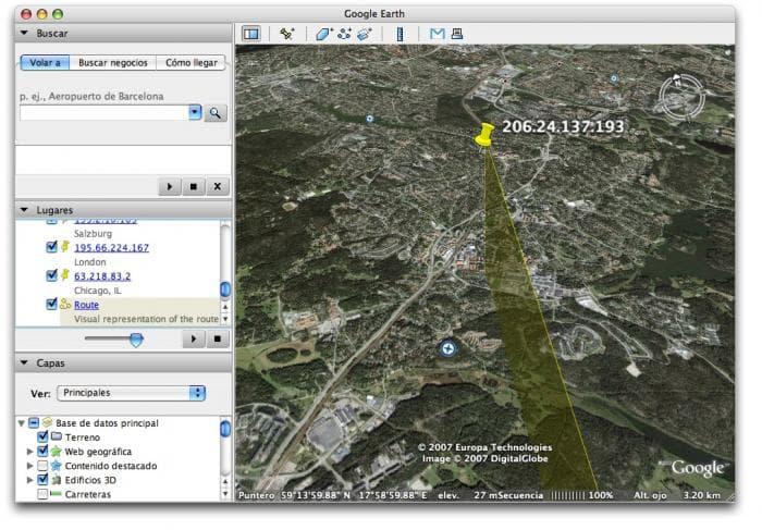3D IP Lookup Widget