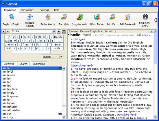 English Explanatory Slovoed Deluxe talking dictionary