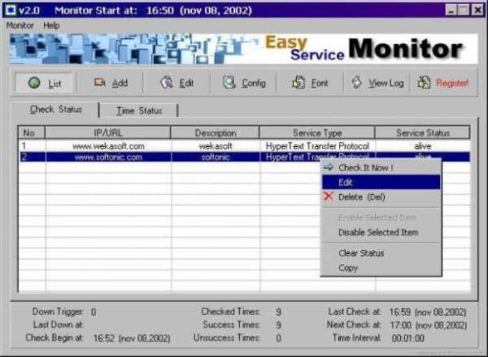 Easy Service Monitor