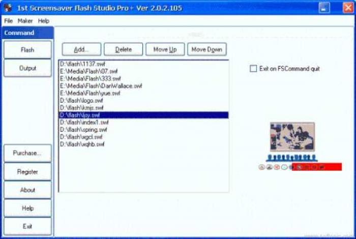 1st Screensaver Flash Studio