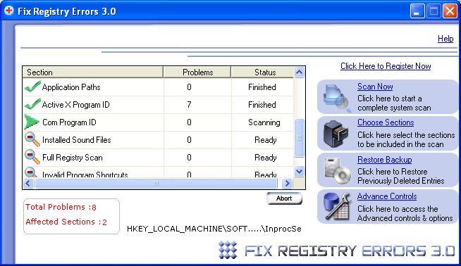 Fix Registry Errors