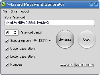 X-Lizard Password Generator